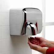 Chrome satin finish hand dryer